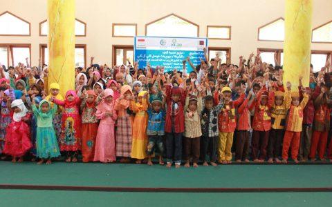 Pembagian Paket Baju Lebaran untuk Anak-anak Desa Sunia