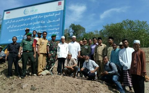 Peletakan Batu Pertama Pesantren Tahfidz Asy Syaikh Jabr di Dompu